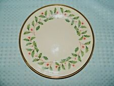 Lenox USA Dimension Collection Holiday Holly Themed Salad/Luncheon Plate