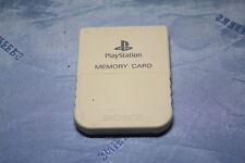 Original Sony PlayStation 1 Speicherkarte WEIß Memorycard guter Zustand
