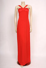 Original VINTAGE 1980's 80's RED VALENTINO LONG PARTY EVENING DRESS! UK 8-10