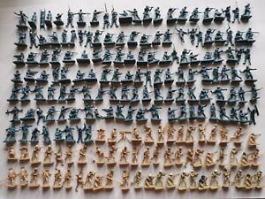 Lot soldats anciens airfix militaires ww2 figurines 1/72 vintage