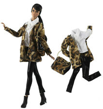 4in1 Set Fashion Outfit Coat+top+pants+bag for 11.5 in. Doll