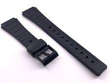 Correa 17 mm rubber for CASIO compatible strap band bracelet black 3WC