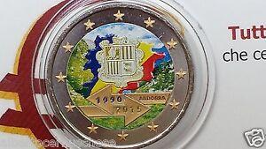 2 euro 2015 Andorra color farbe kleur cor Andorre андорра 25 accordo doganale