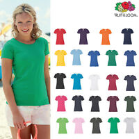 Fruit of the Loom FOTL - Women's Lady-fit Valueweight Cotton Tee T-shirt Top