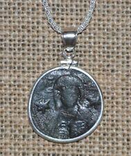Authentic Roman Empire Michael Vii Ducas Jesus Christ Coin 925 Sterling Necklace