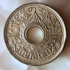 1944 THAILAND 5 SATANG - Exotic WW2 Coin - AU/UNC - Free Ship - BIN #FFF