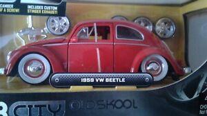 JADA TOYS - 1:24 - 1959  VW Beetle - DUB CITY - OLD SKOOL - 2006 - Preowned