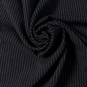 """Bi-Stretch - Pinstripe - Black and white stripe - 60""""wide - Dress fabric"""