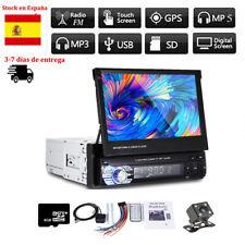 1DIN Bluetooth 7' Car Radio Stereo USB/FM Touch Screen Head Unit GPS Maps Camera