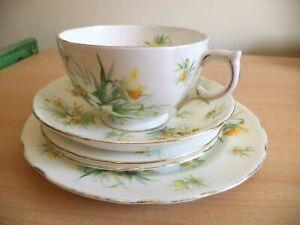 HAMMERSLEY SPRING DAFFODILS JONQUILS bone china GOODE x large TEA CUP TRIO ETC
