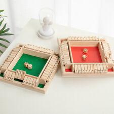 1er SHUT the BOX Spiel aus Holz Würfelspiel Klappenspiel Brettspiel Klappbrett