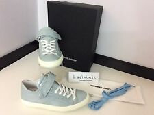 PIERRE HARDY Sneakers Shiny Calf Leather, UK 6, Eu 39, NEW RRP £310 Light Blue