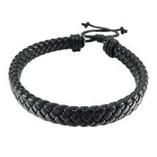 Rope Black Adjustable Surfer Wrap Jewelry Men Women Leather Bracelet Bangle Cuff