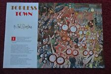 2001 Magazine Poem by Shel Silverstein 'Topless Town' w/ Arnold Roth ART