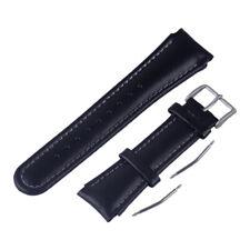 22mm, negra, cuero Pulsera de repuesto para Suunto x-Lander relojes pulsera