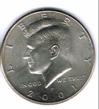2001-P Brilliant Uncirculated Copper-Nickel Clad Copper Strike Half Dollar Coin!