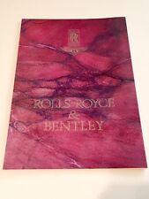 Rolls-Royce & Bentley 1990-2000 Brochure
