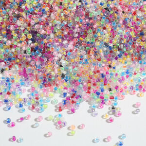1200pcs Small Czech Crystal Glass Seed Beads Loose Spacer Beads For Jewelry