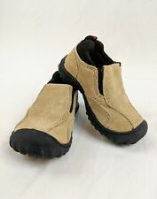 OshKosh Trail Shoes Size 2 Brown Tan Infants Slip On Hiking Gripping Shoes