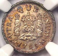 1755-MO Mexico Pillar Half Real Coin (1/2R) - NGC Uncirculated Details (MS UNC)!