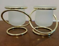 PartyLite Gold Plated Gemini Candle Holders New In Box