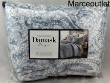 Charter Club Damask Designs Paisley King Quilted Coverlet & Shams Set Blue