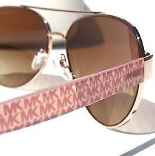 NEW* MICHAEL KORS AVIATOR Matte Pink Silver w Bronze Lens MK 1014 BLAIR Sunglass