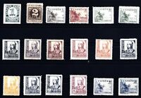 Sellos España 1937-1940 nº 814/831 Cifras Cid nuevos sin charnela ref. A1a