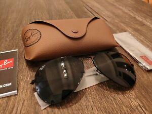 Ray ban aviator sunglasses Black Frame Black Lenses Unisex 62mm