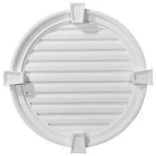 """24""""W x 24""""H x 2 1/8""""P, Round Gable Vent with Keystones, Functional"""