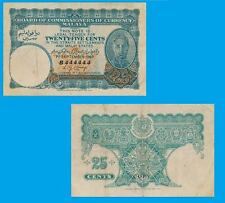 Malaya 25 Cents 1940 .  UNC - Reproductions