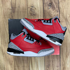 Air Jordan 3 Retro Red Cement Unite Size 8.5 100% Authentic With Box