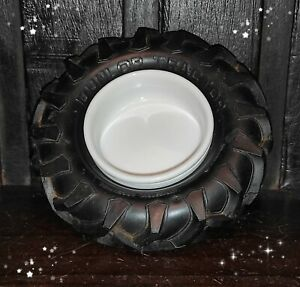 VINTAGE VERY RARE DUNLOP TRACTOR TIRE TYRE ARGENTINA ASHTRAY AD RUBBER WHEEL