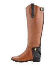 Sam Edelman Dara Leather Riding Boot Knee High NEW Brown Rare