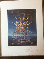Salvador Dali Litografia 50 x 65 Bfk Rives Timbro a secco Firmata a Matita D2113
