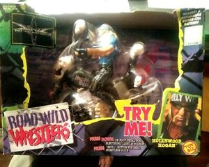 1999 WCW Road Wild Wrestlers Hollywood Hulk Hogan Action Figure & Motorcycle