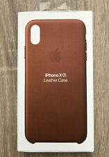 iPhone XR Apple Genuine European Leather Protective Cover Case Skin Saddle Brown