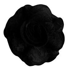 Pince à cheveux broche fleur feutrine et dentelle noire soirée mariage