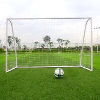 8' x 5' Football Soccer Goal Frame W/White Net Portable Match Training Sport Set