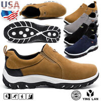 Men's Casual Shoes Slip On Outdoor Sneakers Breathable Hiking Running Shoes Size
