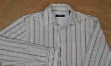 ALFANI Men's Long Sleeve Button Down Striped Shirt Small