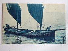 LAGO DI GARDA barca vela pescatori vecchia cartolina 330