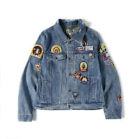 Hot Embroidery Badges A Bathing Ape Bape Ape Head Shirt Long Sleeve Denim Jacket