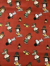 SNOOPY Peanuts THANKSGIVING Pie Fabric By the Half Yard Cotton