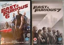 FAST AND THE FURIOUS 6 & 7 [Four,Five] Vin Diesel, The Rock, Paul Walker DVD EXC