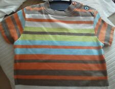 Baby boy t-shirt, multi striped. Size newborn.upto 11 lbs. Bnwt.