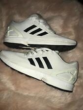 4fe16db7baaa4 Adidas ZX Flux White Black Gold BA8655 Pre-Owned Great Condition