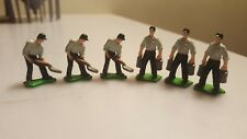 1/64 Ertl Farm Country Man Figurines, 6 w/Pails and 6 w/Shovels