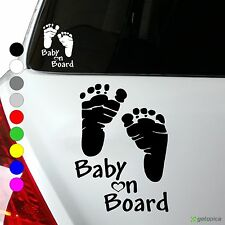 Baby on Board Aufkleber Kind an Bord Füße Kids Sticker 10 x 13 cm viele Farben