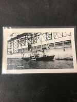 real photo Postcard Churchill Manitoba Pier Dock With Boats In Water  A1